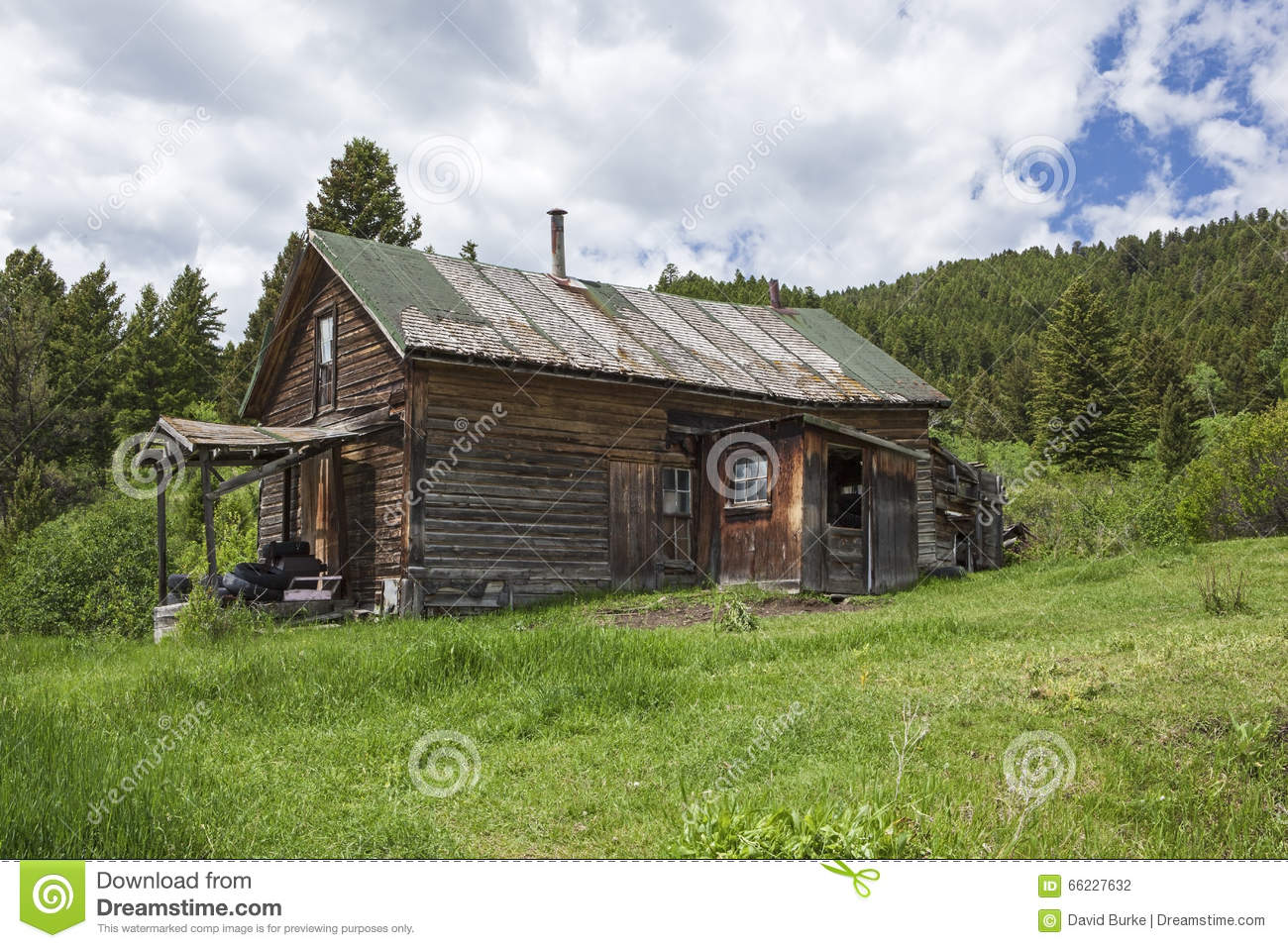 Stock Photo Old Weathered Farmhouse Mountains Grass Ancient Rustic Dilapidated Mountain Homestead Sits Abandoned Cloudy Image66227632 on old time farmhouse plans