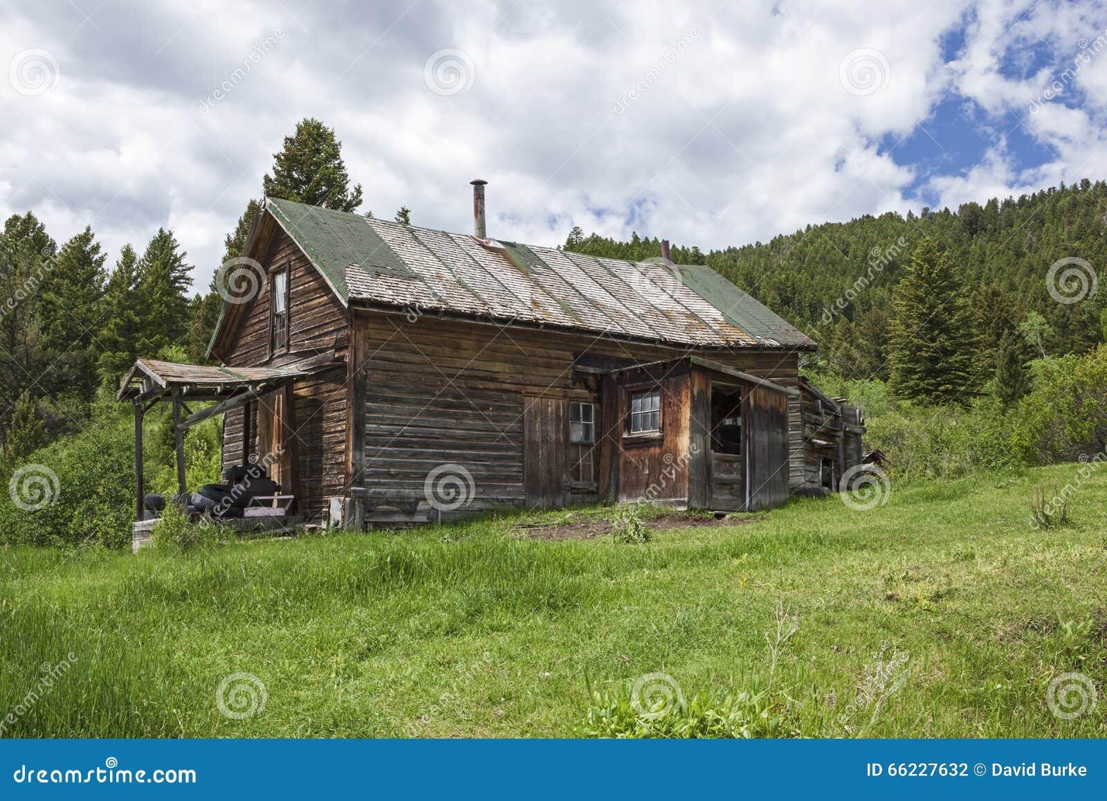 Old Weathered Farmhouse Mountains Grass Stock Photo Image 66227632