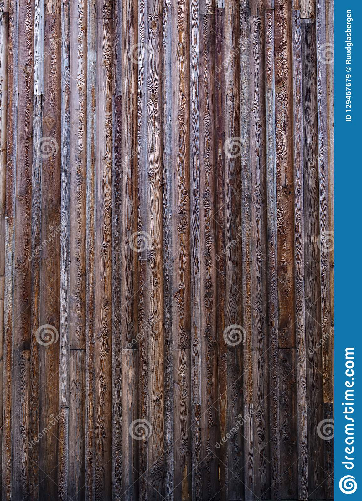 Old weathered planks outside facade