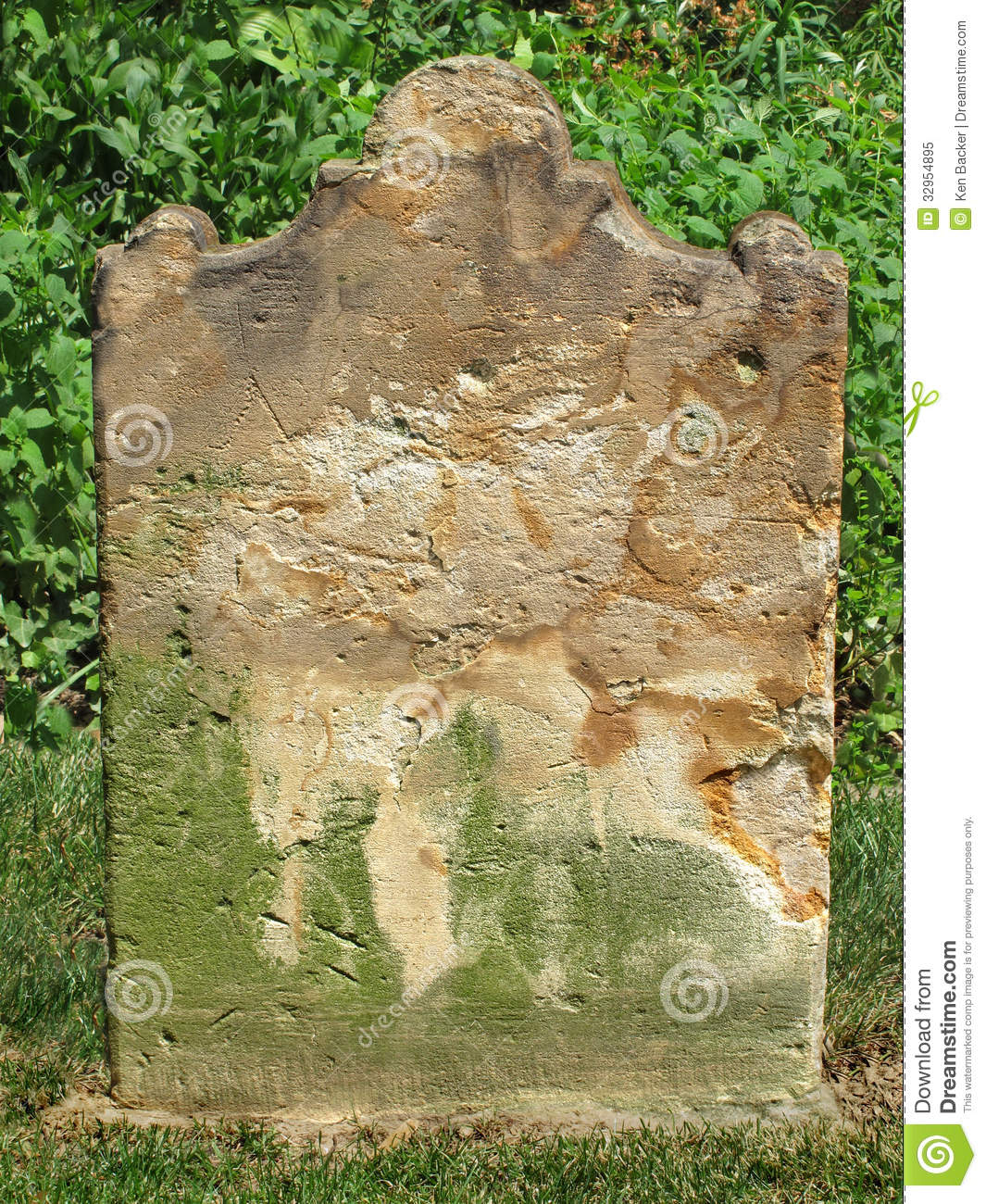 Granite Grave Slabs : Old weathered tombstone royalty free stock photo image