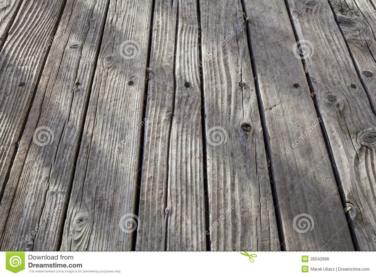 Old weathered wood deck