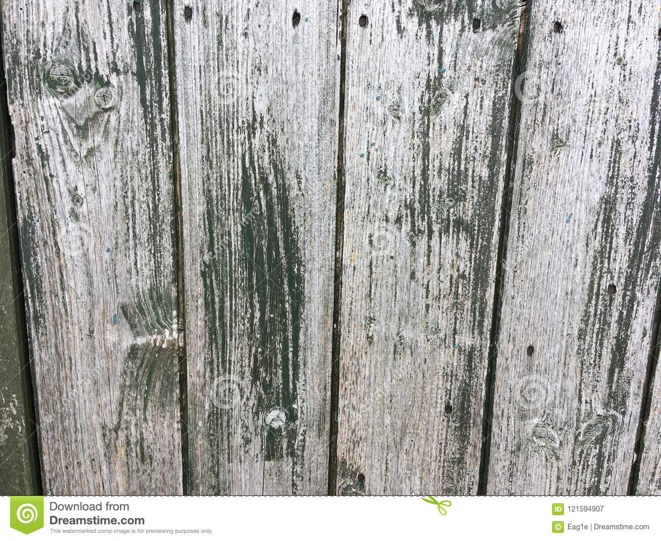 Old Weathered Wood In Green And White Stock Image Image Of Paint