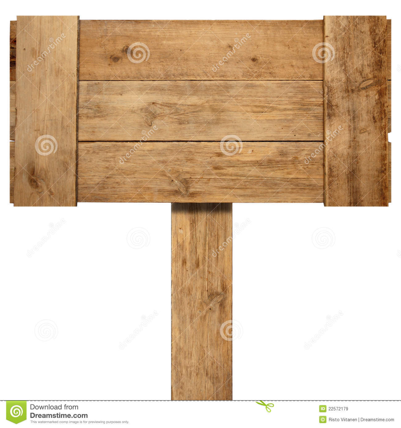 Old weathered wood sign stock image of panel