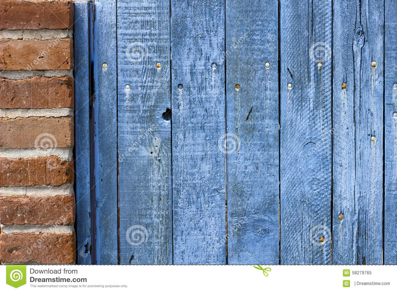 Old weathered wooden fence stained blue stock photo image 58279765 blue painted peeling stained weathered wooden baanklon Images