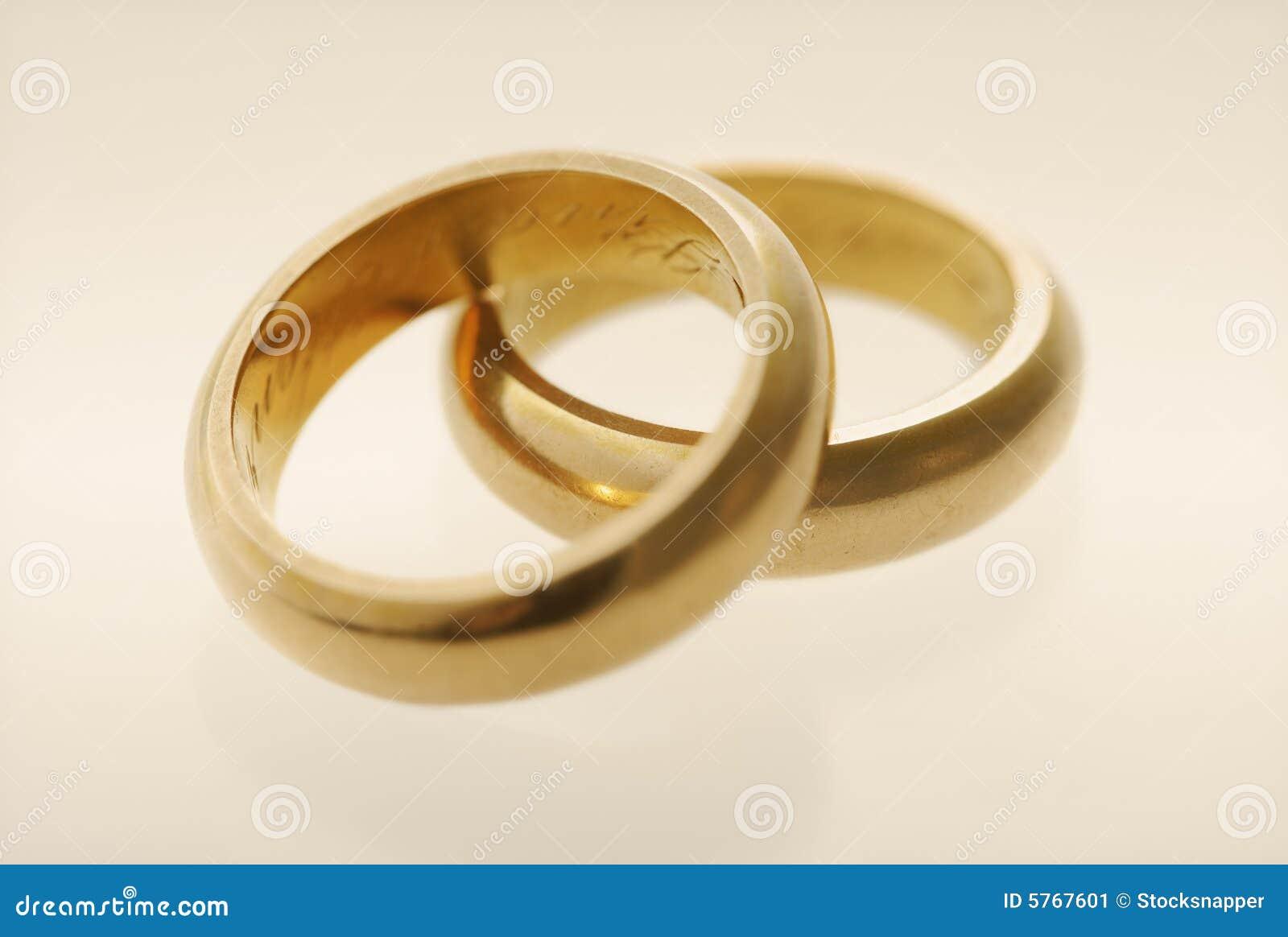 old wedding rings stock image - Old Wedding Rings