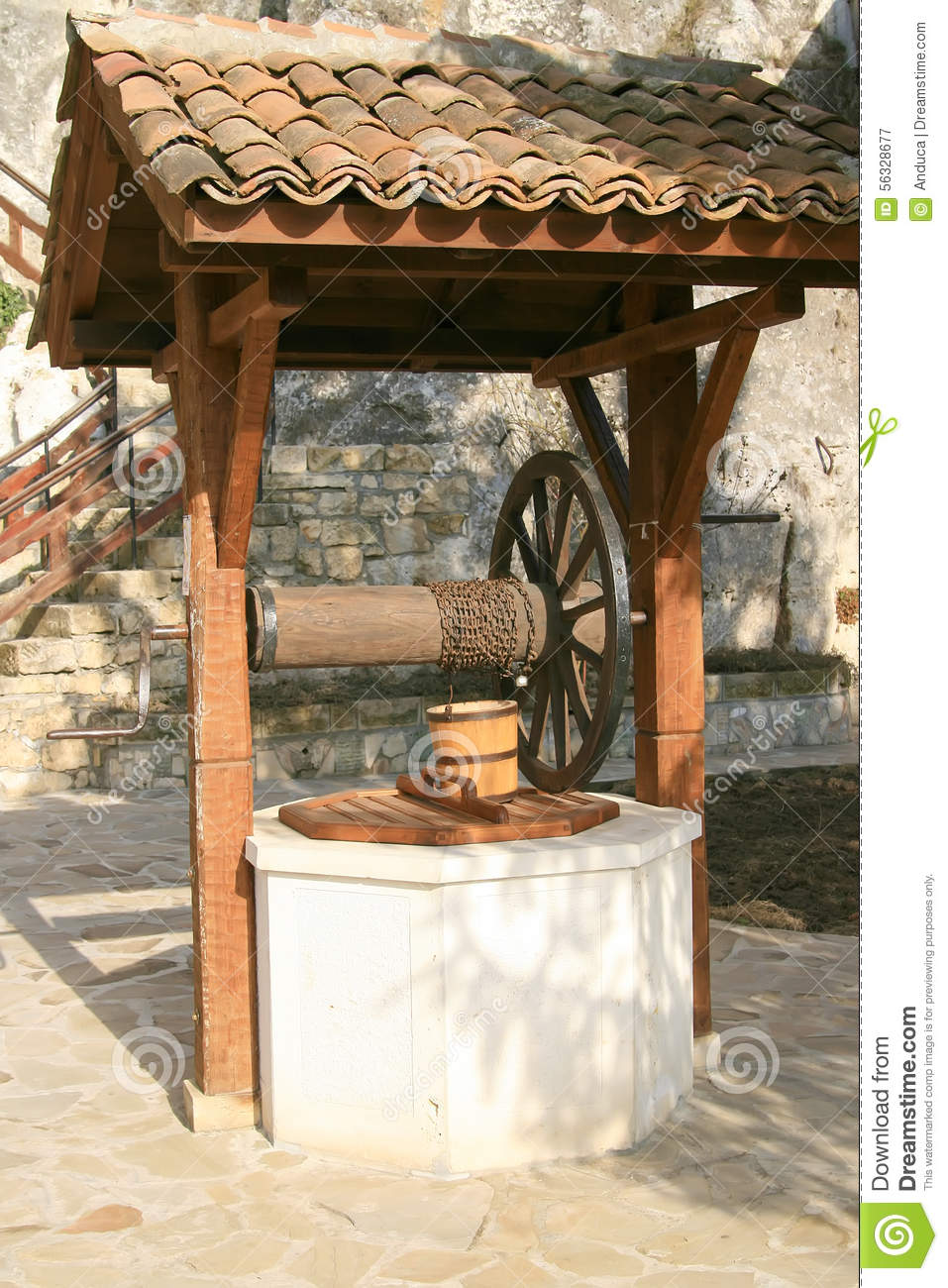 Old well at rock monastery