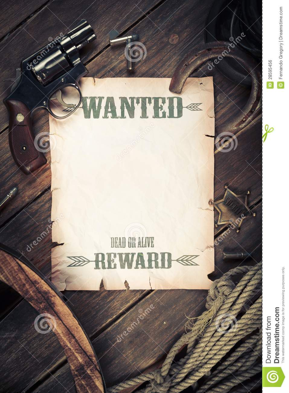 Old West Background With Wanted Poster Royalty Free Stock Image ...