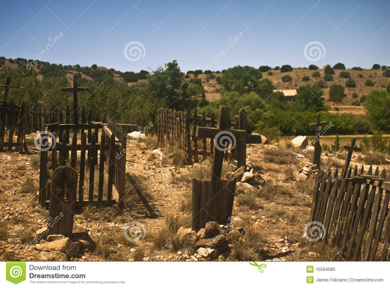 Old west graveyard stock photo image of spanish historic for Cementerio jardin del oeste