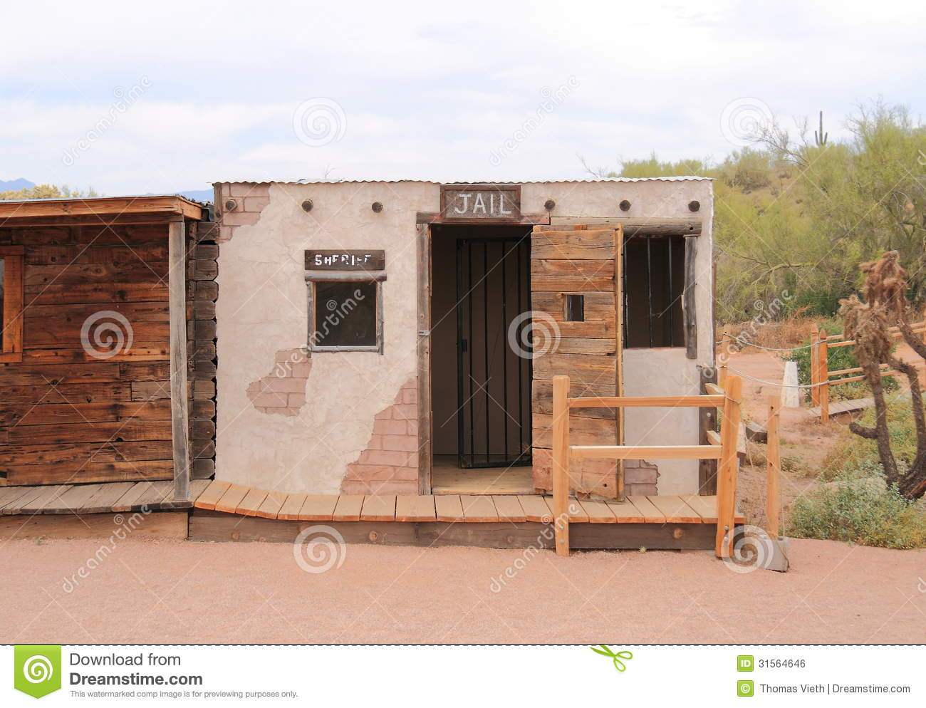 USA, Arizona: Old West - Jail Editorial Photo - Image of museum