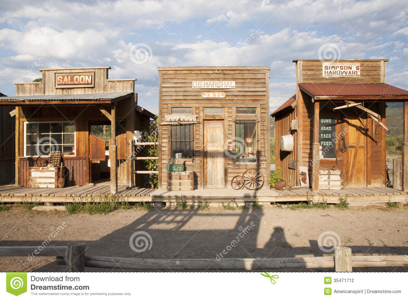 Old West Storefronts Editorial Photography Image 35471712