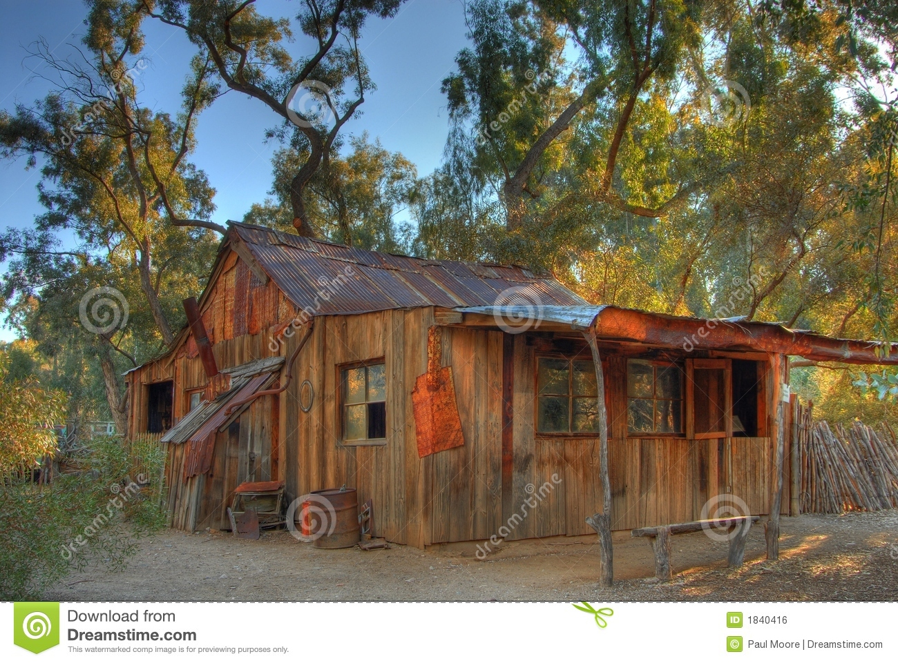 Old Western Cabin Stock Photo Image Of Ancient Unnatural