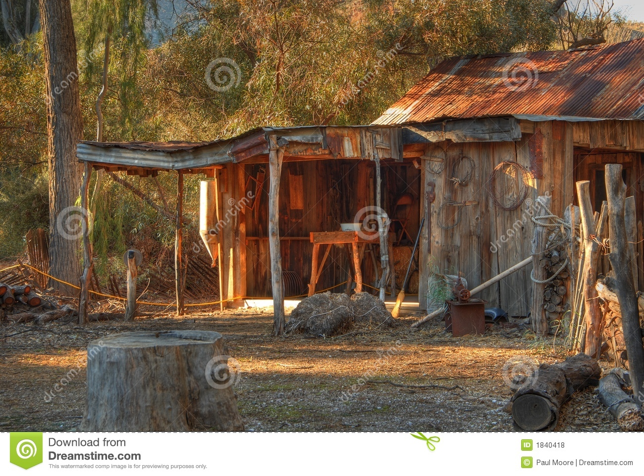 Old Western Cabin 2 Royalty Free Stock Photos Image 1840418