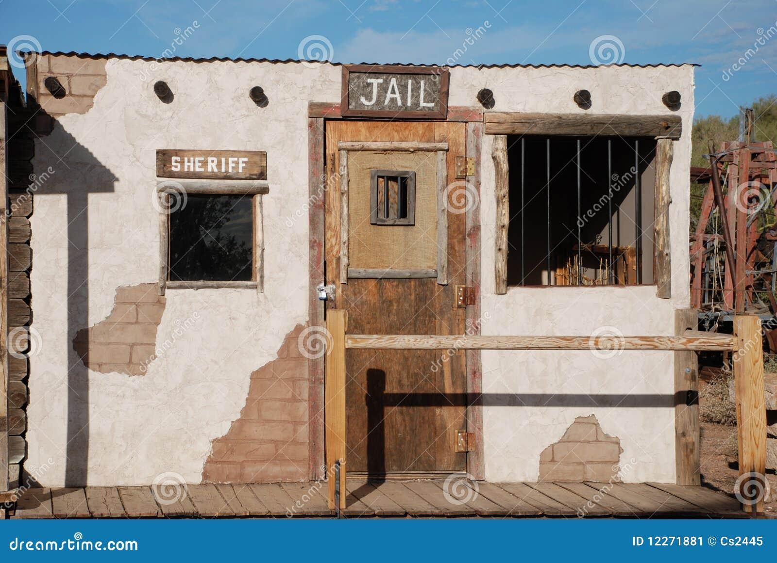 Old Western Cowboy Jail