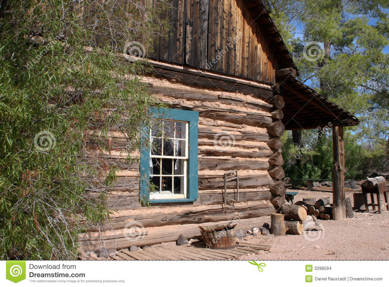 Old Western Cowboy Log Cabin Stock Photo Image Of Dirt