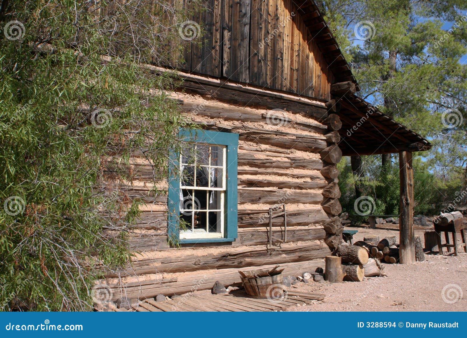 Old Western Cowboy Log Cabin Stock Images Image 3288594
