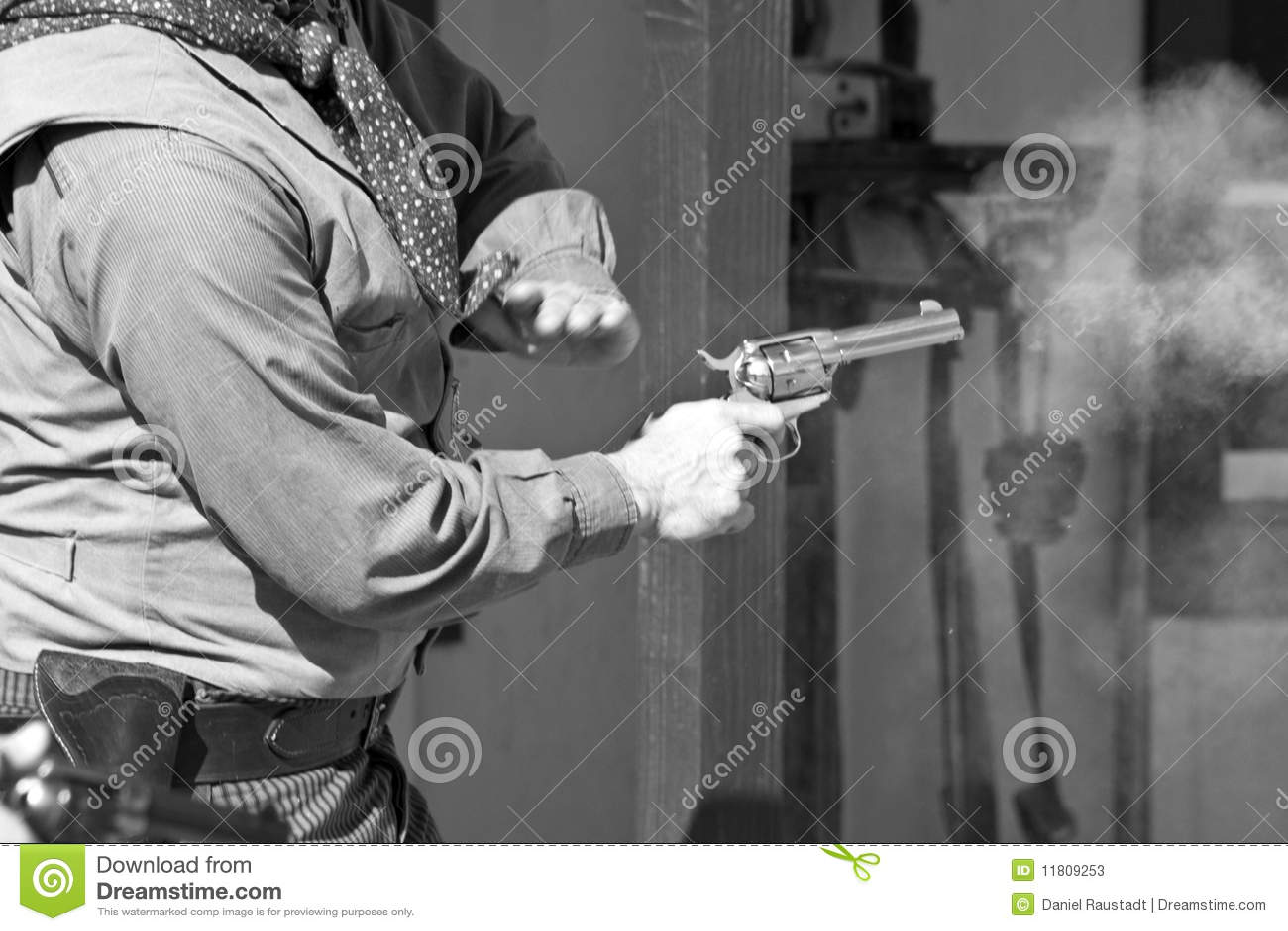 Old Western Gunfight