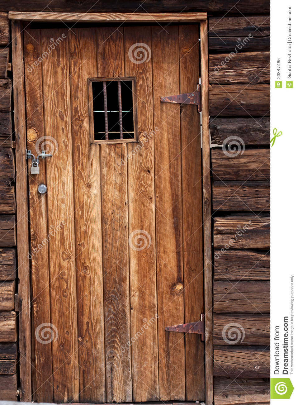Old Western Jail Door Stock Image Image Of Architecture