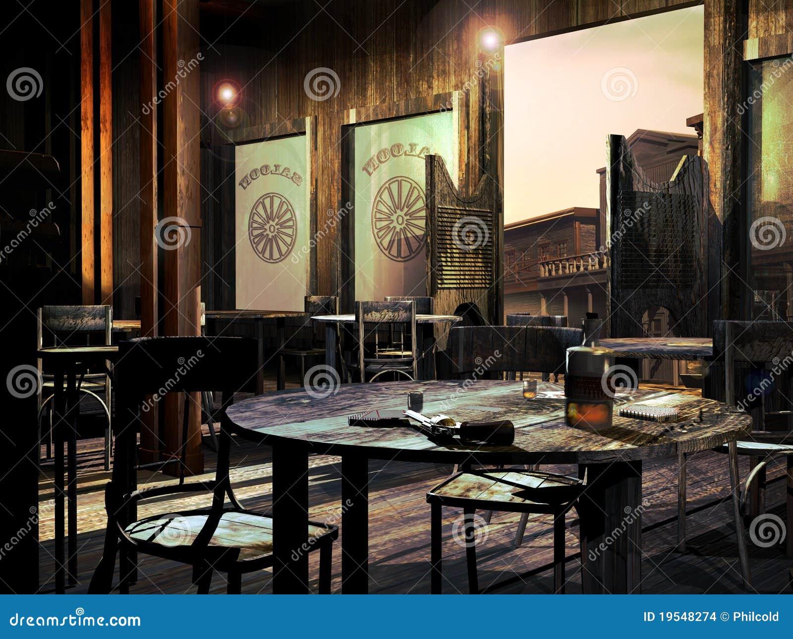 Old Western Saloon Stock Illustration Image Of Edifice