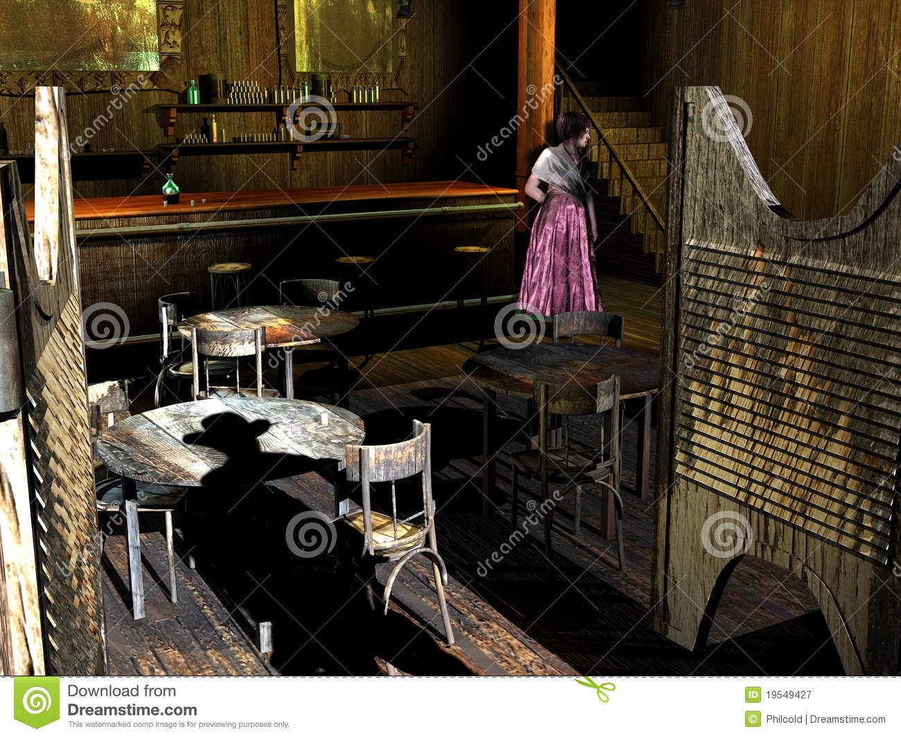 Old Western Saloon Girl Photos http://www.dreamstime.com/royalty-free-stock-photography-old-western-saloon-girl-image19549427