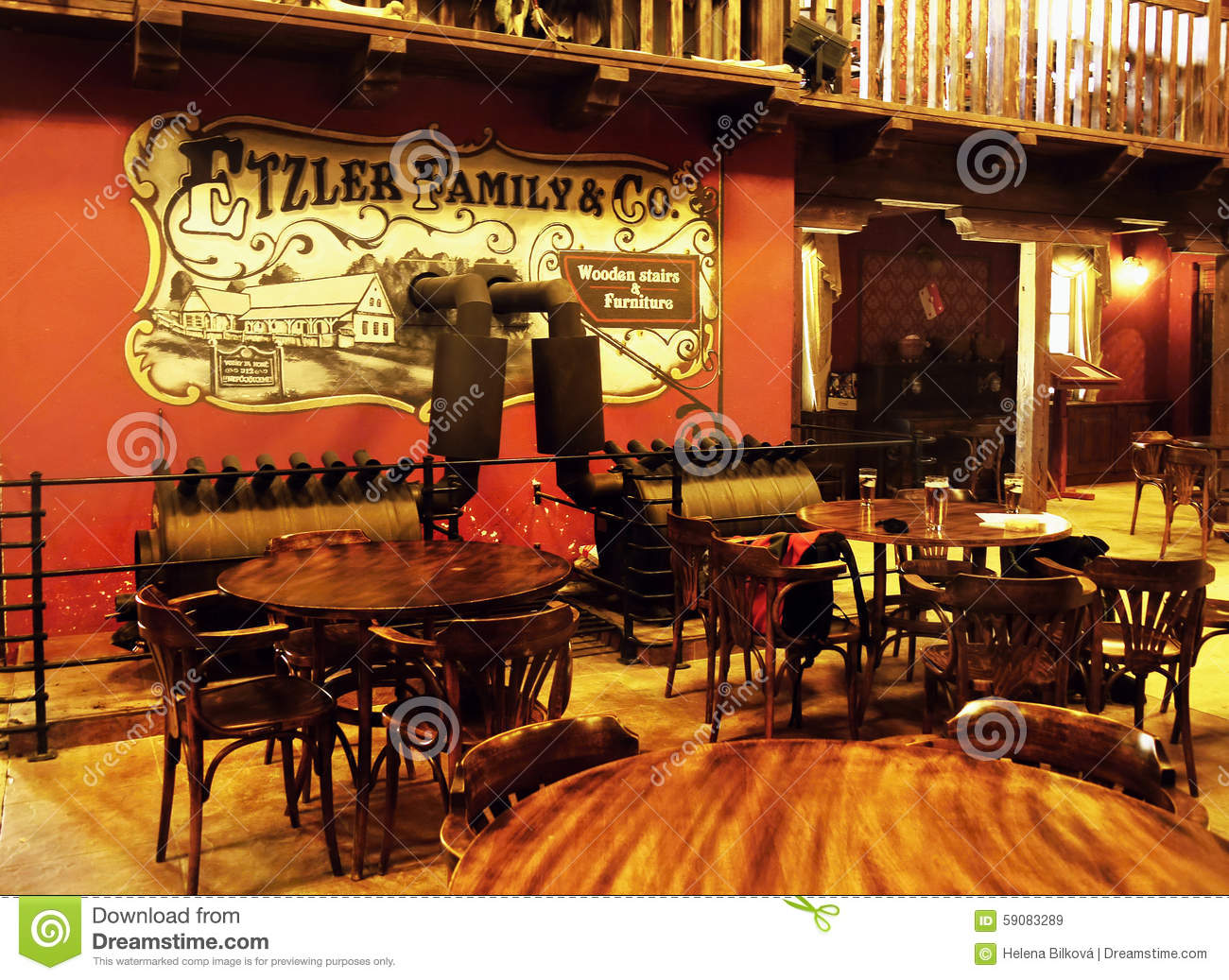 ... of old Western Saloon - Restaurant in Old Western Town Boskovice