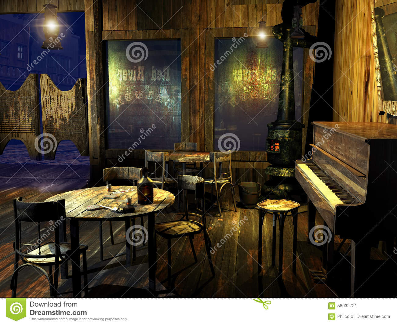Old Western Saloon Stock Illustration Image Of Entrance