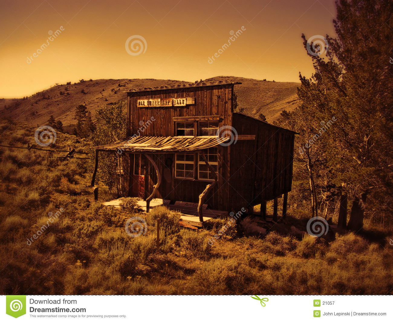 Old Western Shack Royalty Free Stock Photography - Image  21057