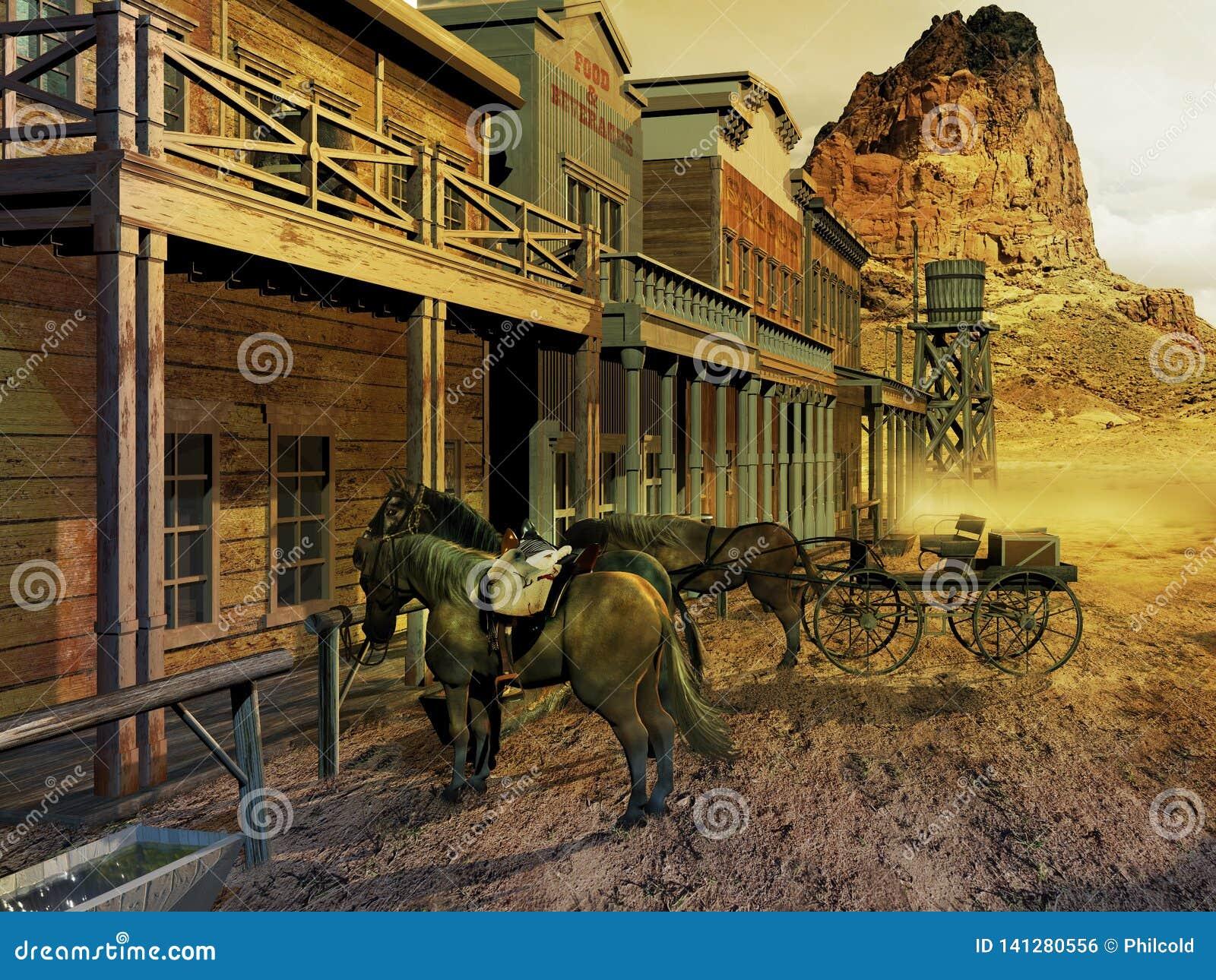 Old western street