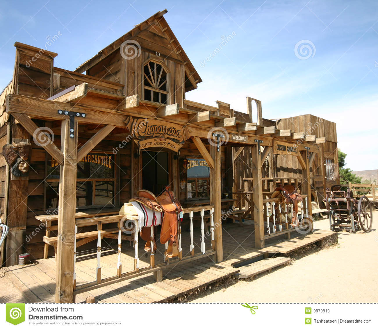 Rustic Modern House Old Western Town Stock Photo Image Of California Desert