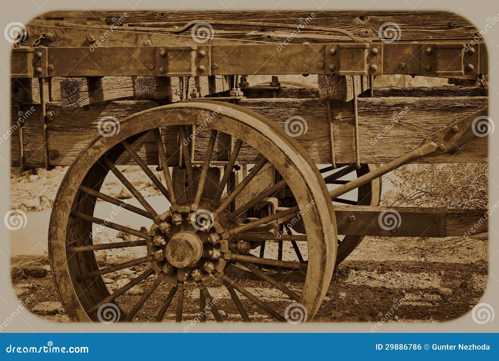 Western Wagon Wheel Royalty Free Stock Image - Image: 29886786