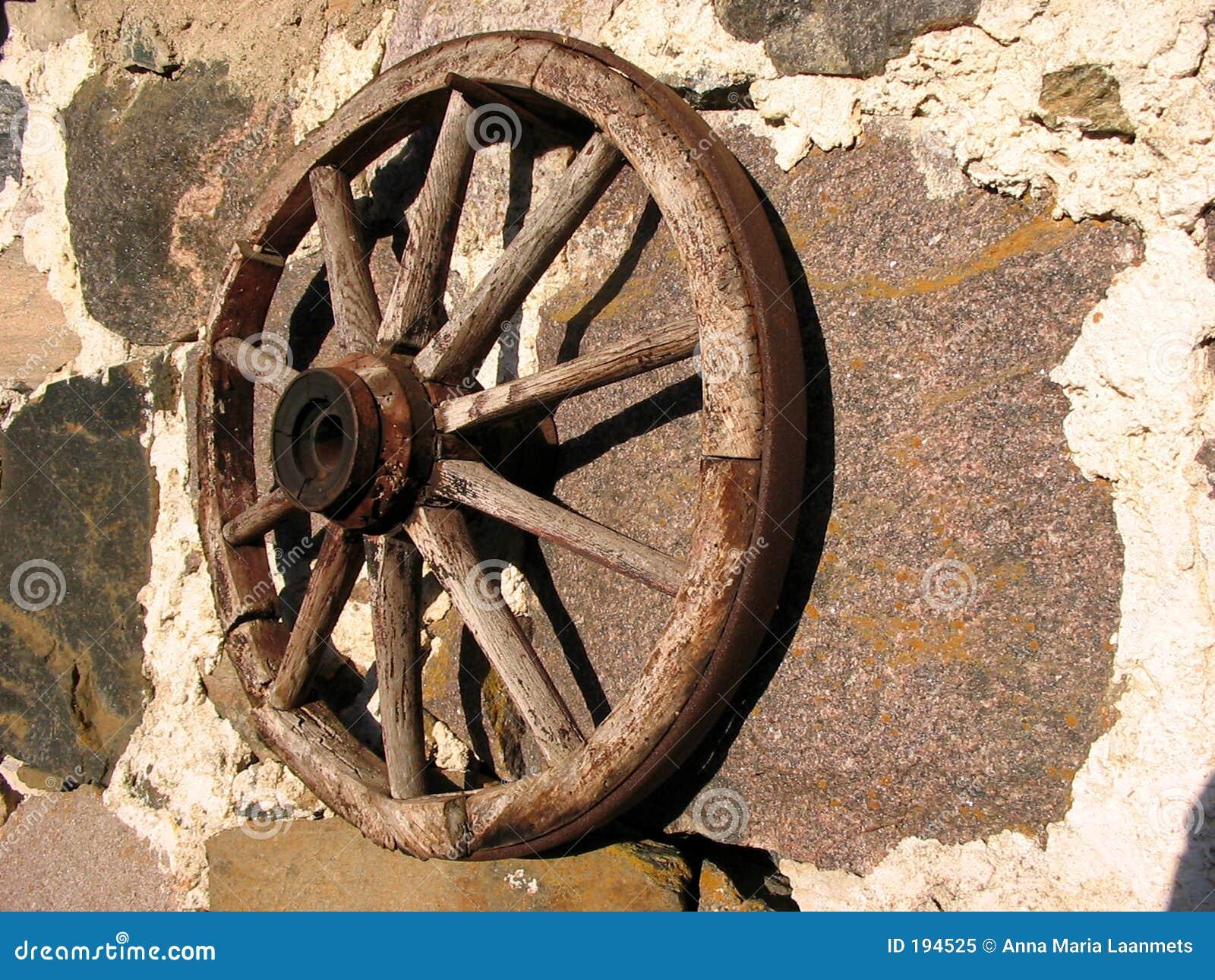 Old Wheel Stock Image Of Western Granite