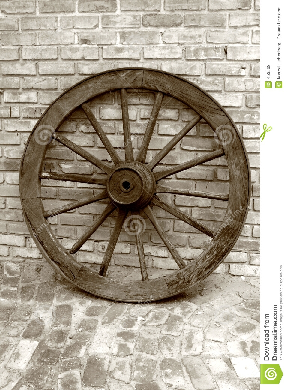 Download Old Wheel stock image. Image of antique, round, sepia, abstract - 453569