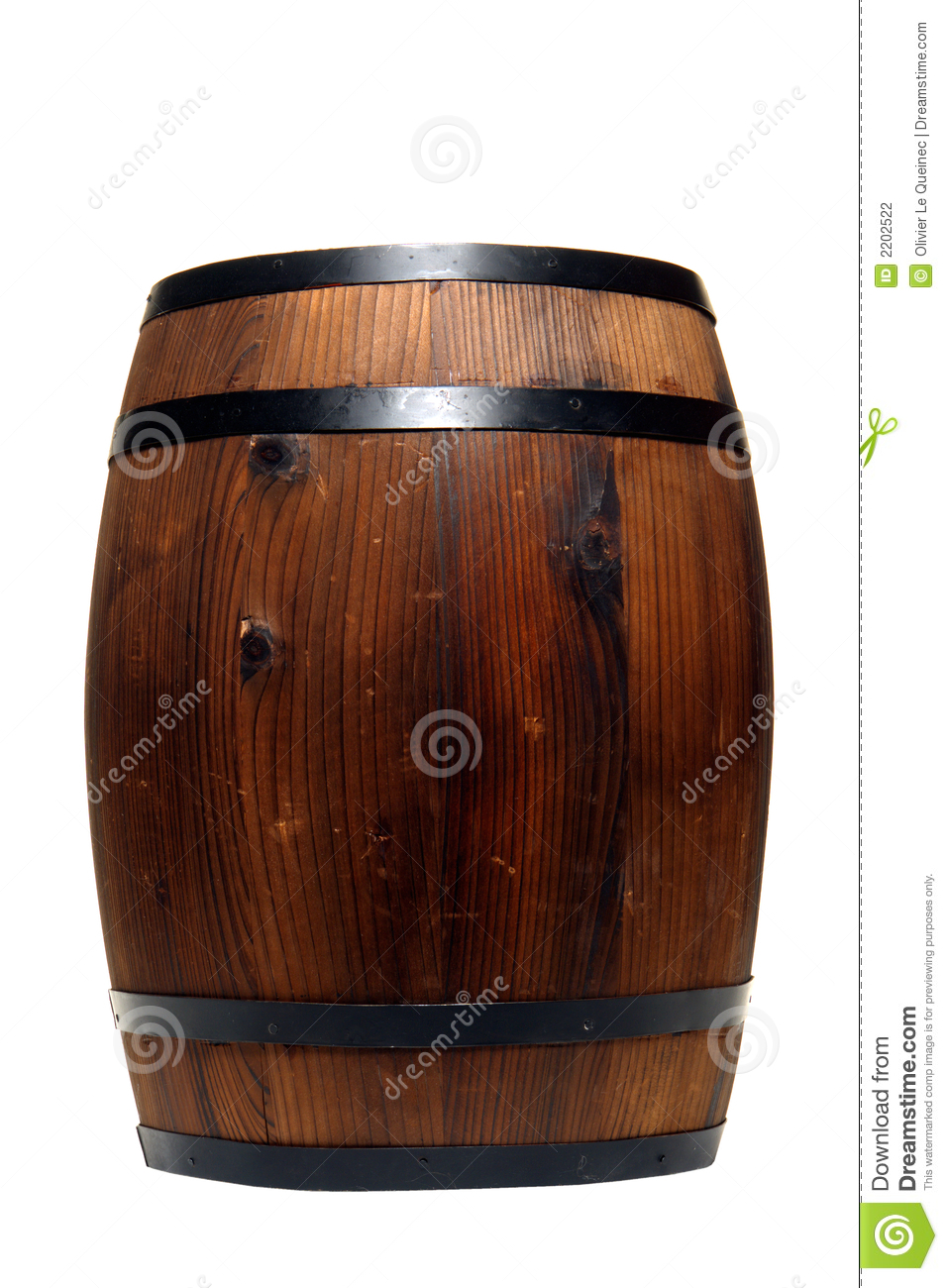 Old Whisky Barrel Or Wine Cask Wood Container Stock Photo