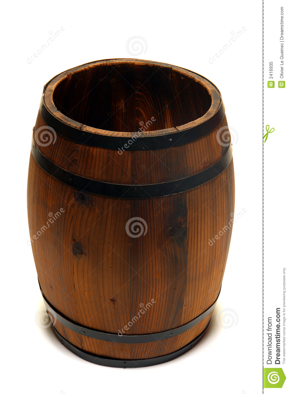 old whisky barrel or wine cask wood container royalty free