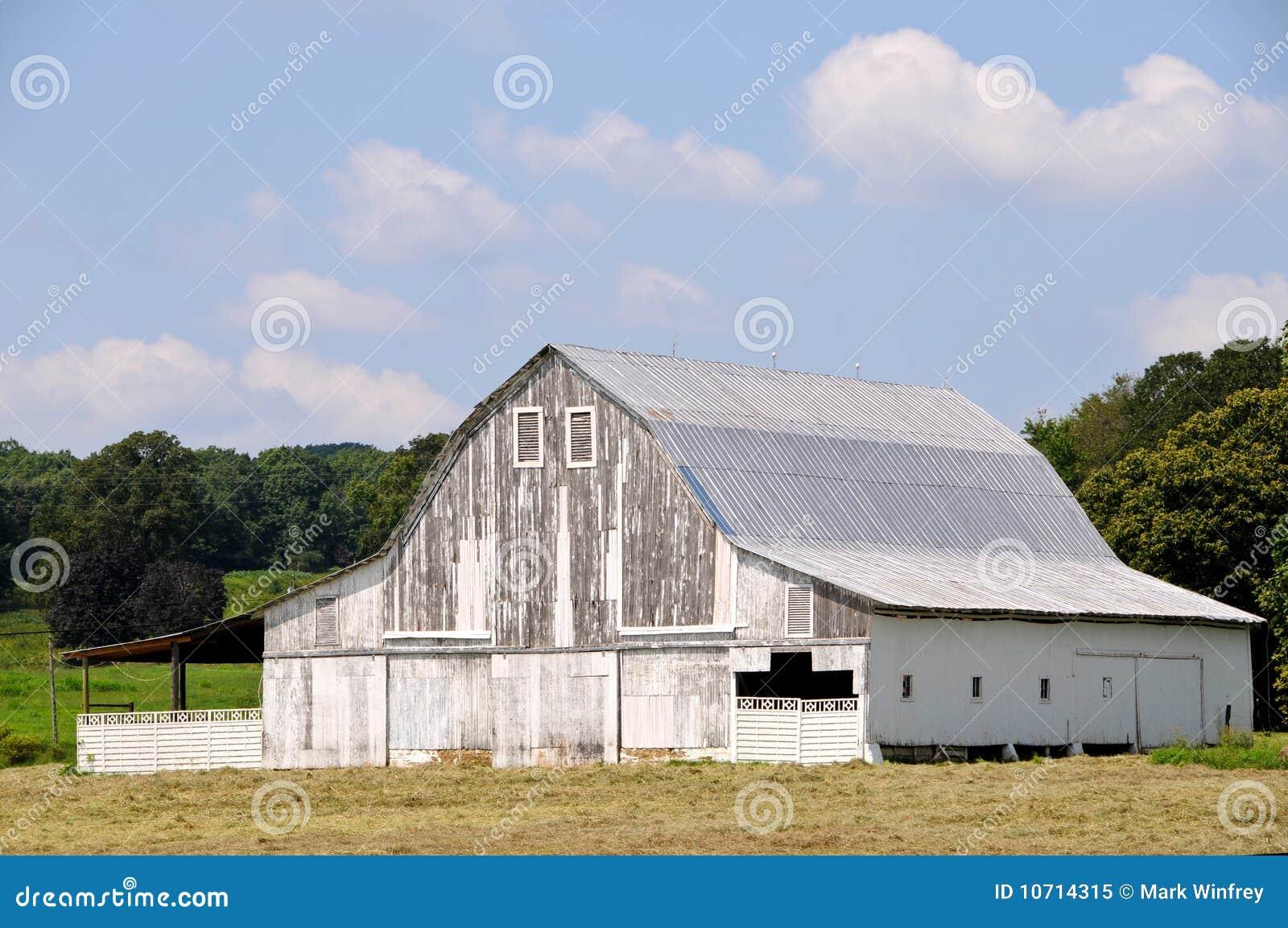 Old White Barn Royalty Free Stock Photo Image 10714315