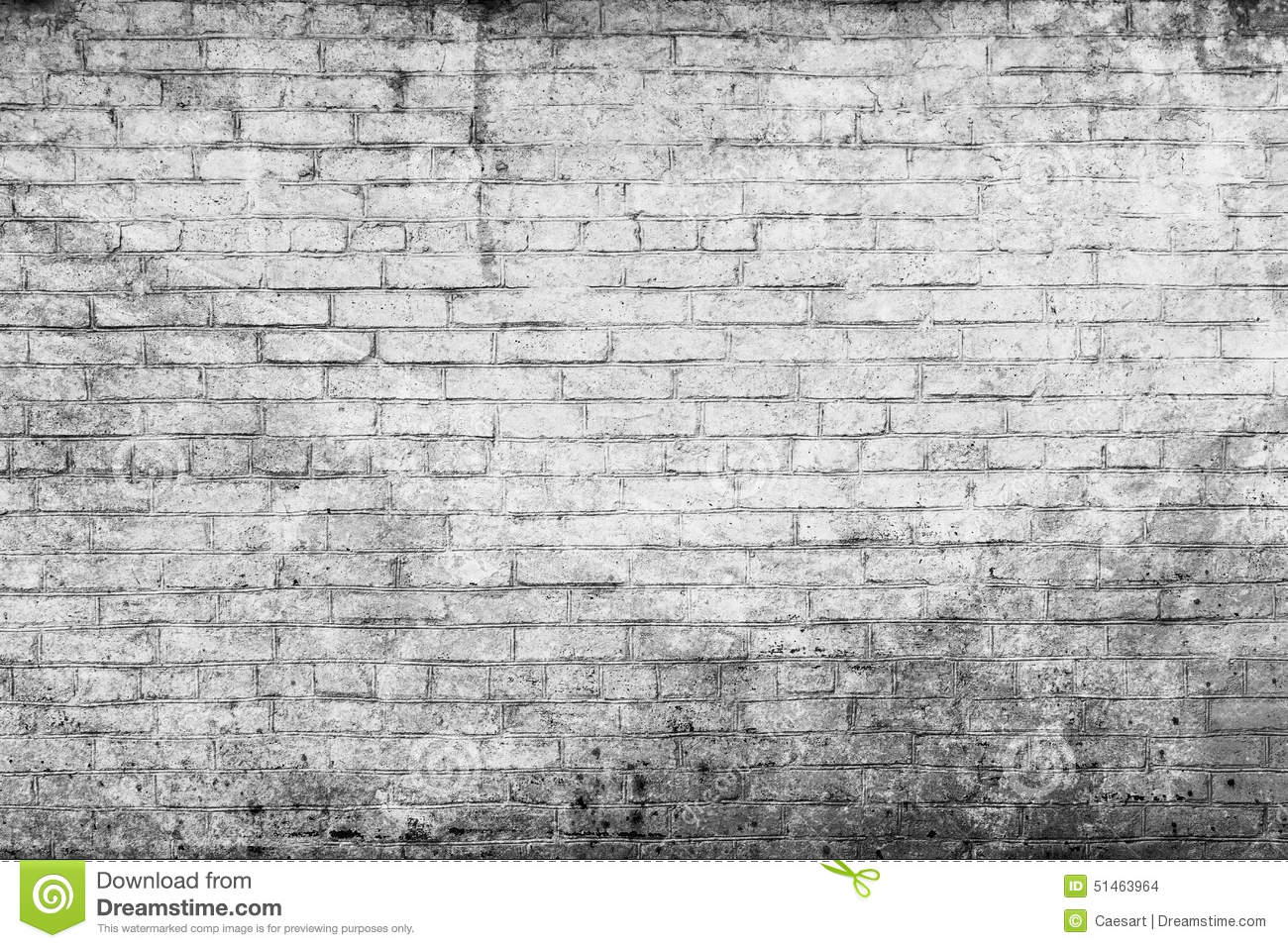 Old White Brick Wall Stock Photo Image 51463964