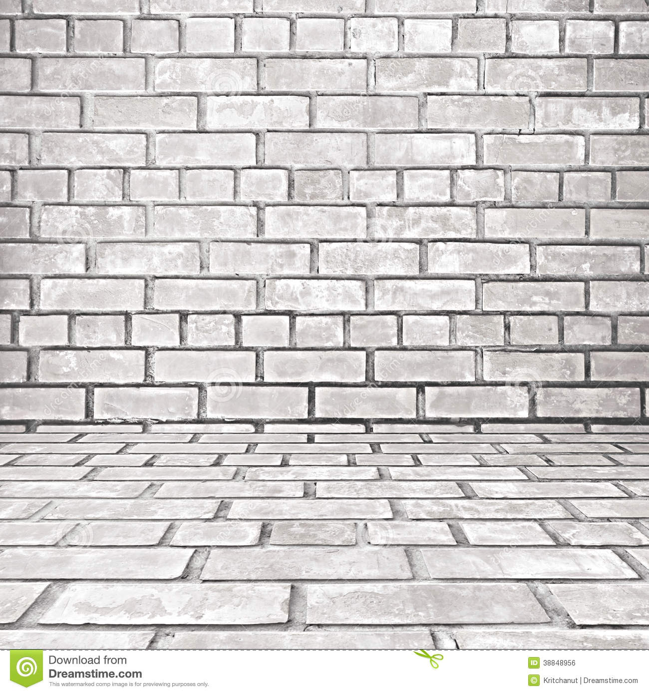 Old white gray brick room background stock photo image - Pared ladrillo blanco ...