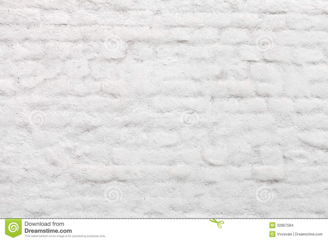 Old White Painted Brick Wall Stock Images Image 32867584