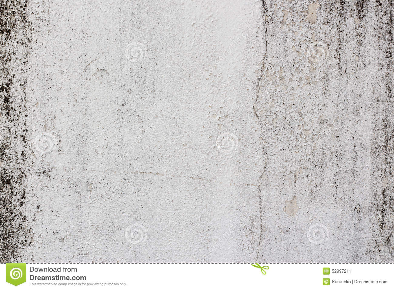 Old white painted wall with mold stains as abstract for Getting stains off concrete