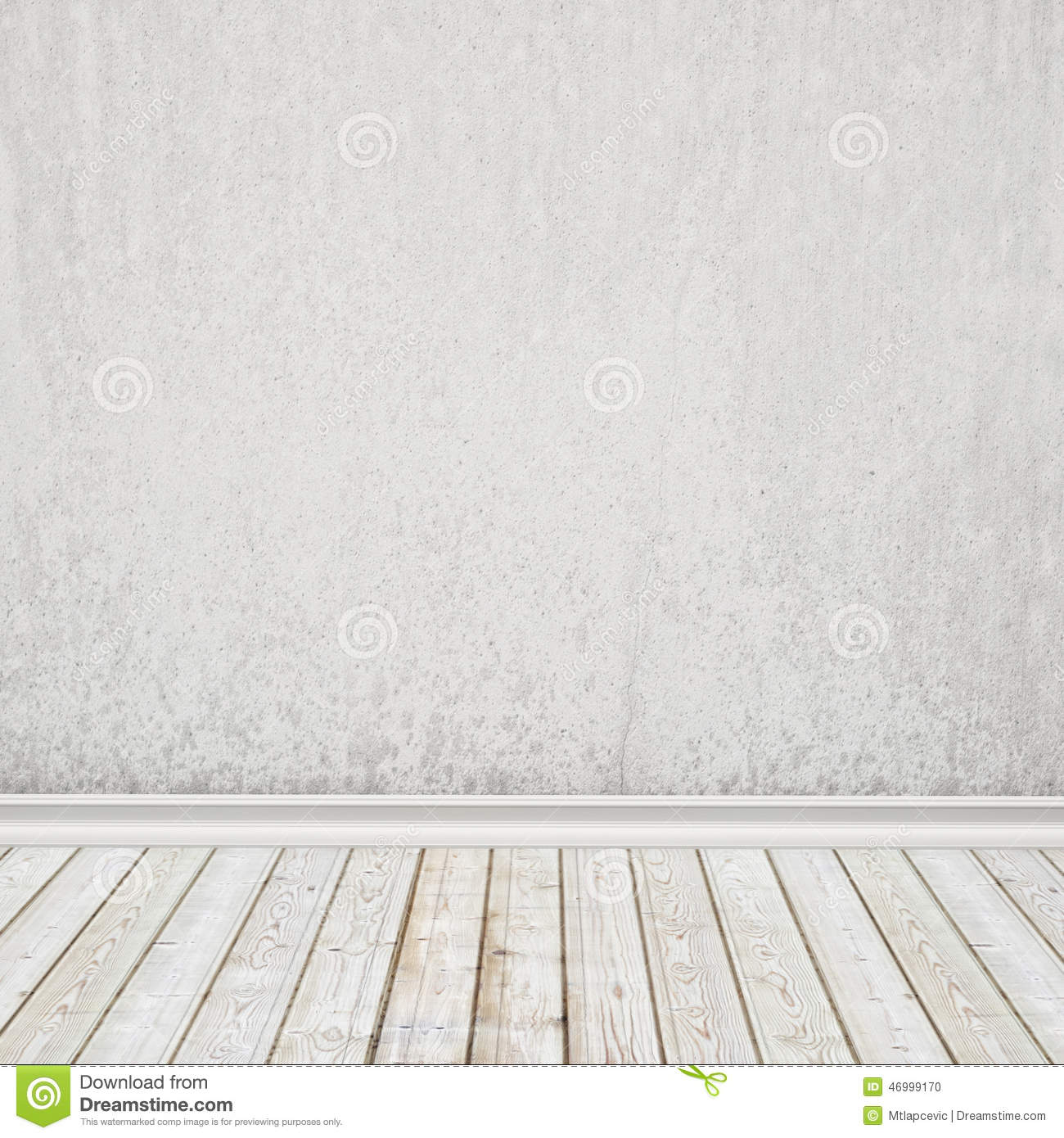 Old white painted wall and vintage wooden floor interior for Floor and wall