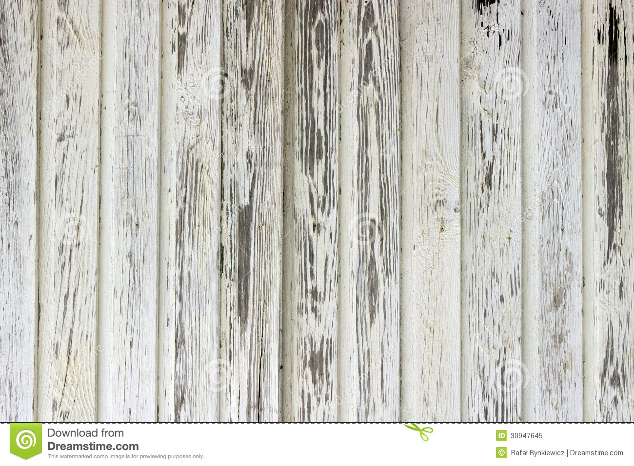 Old White Painted Wood Wall Stock Image - Image: 30947645