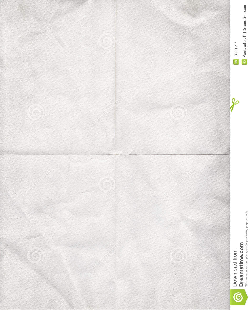 old white paper folded in four stock image image of page