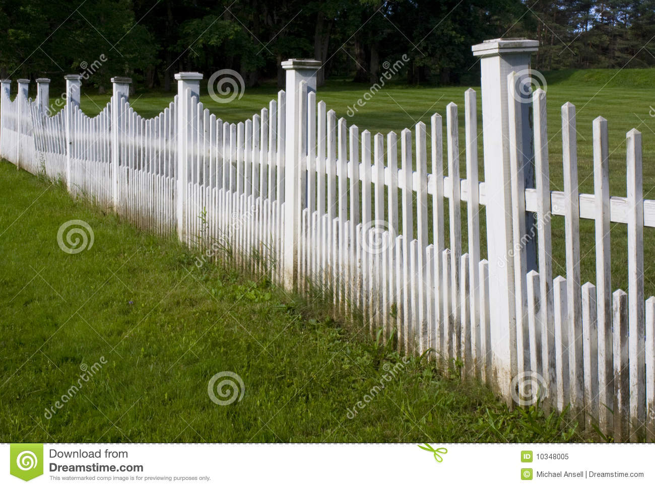 Old White Picket Fence Stock Image Image Of Barrier