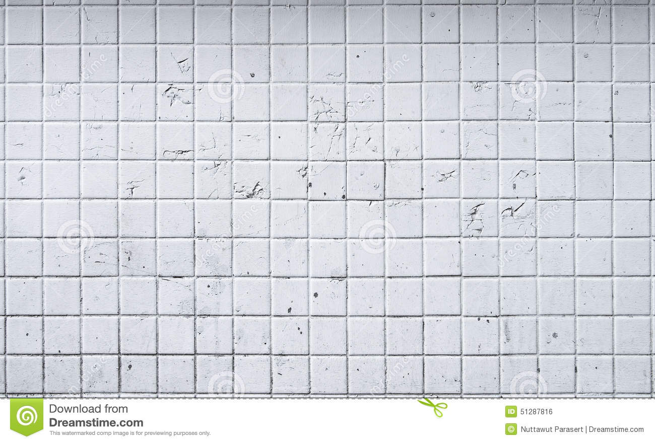 Old White Tile Wall Background Stock Photo - Image: 51287816