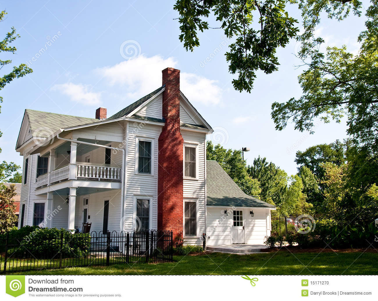 old white two story farmhouse stock photo image of