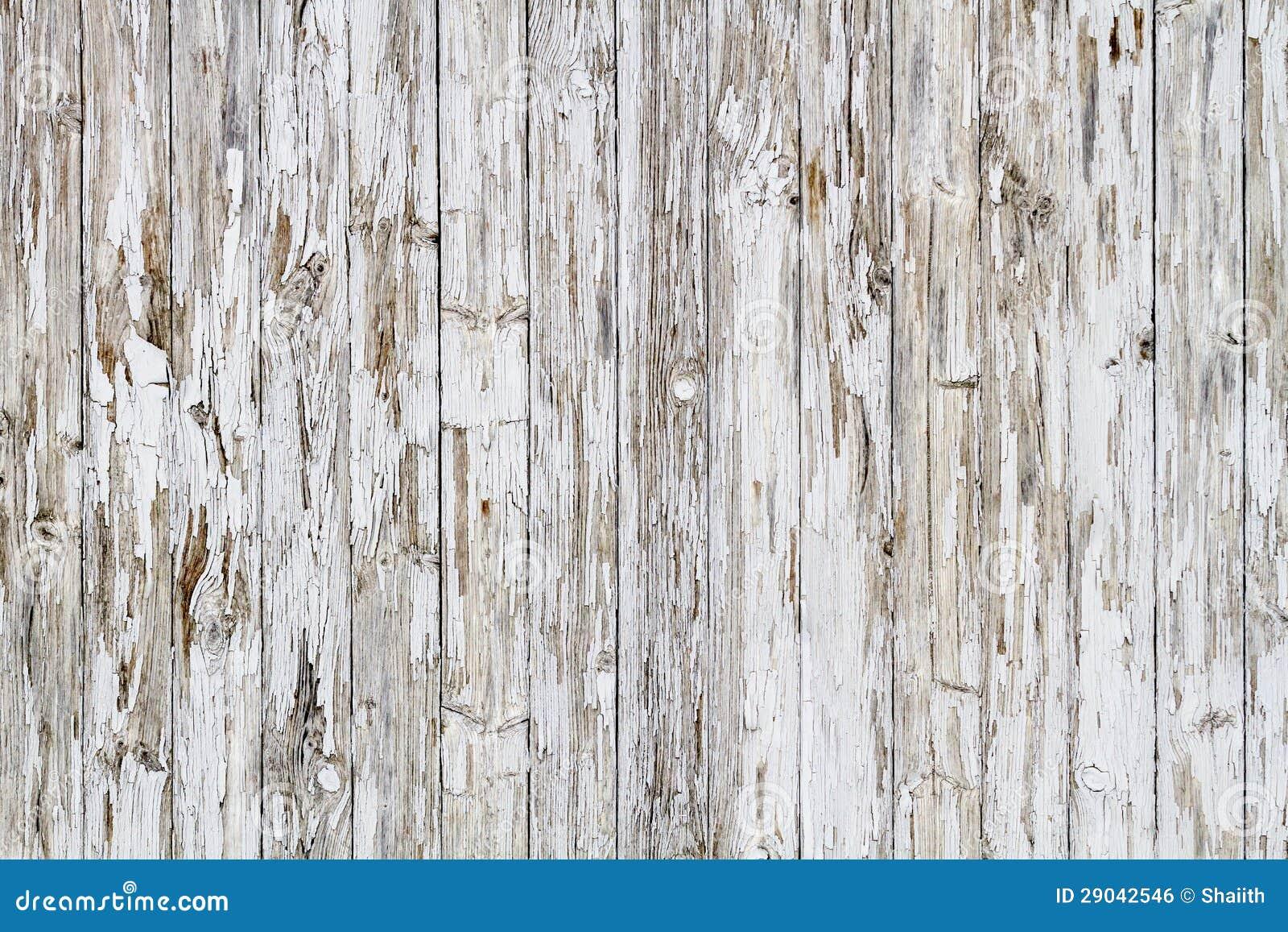 Old White Weathered Wooden Fence Stock Photo Image 29042546