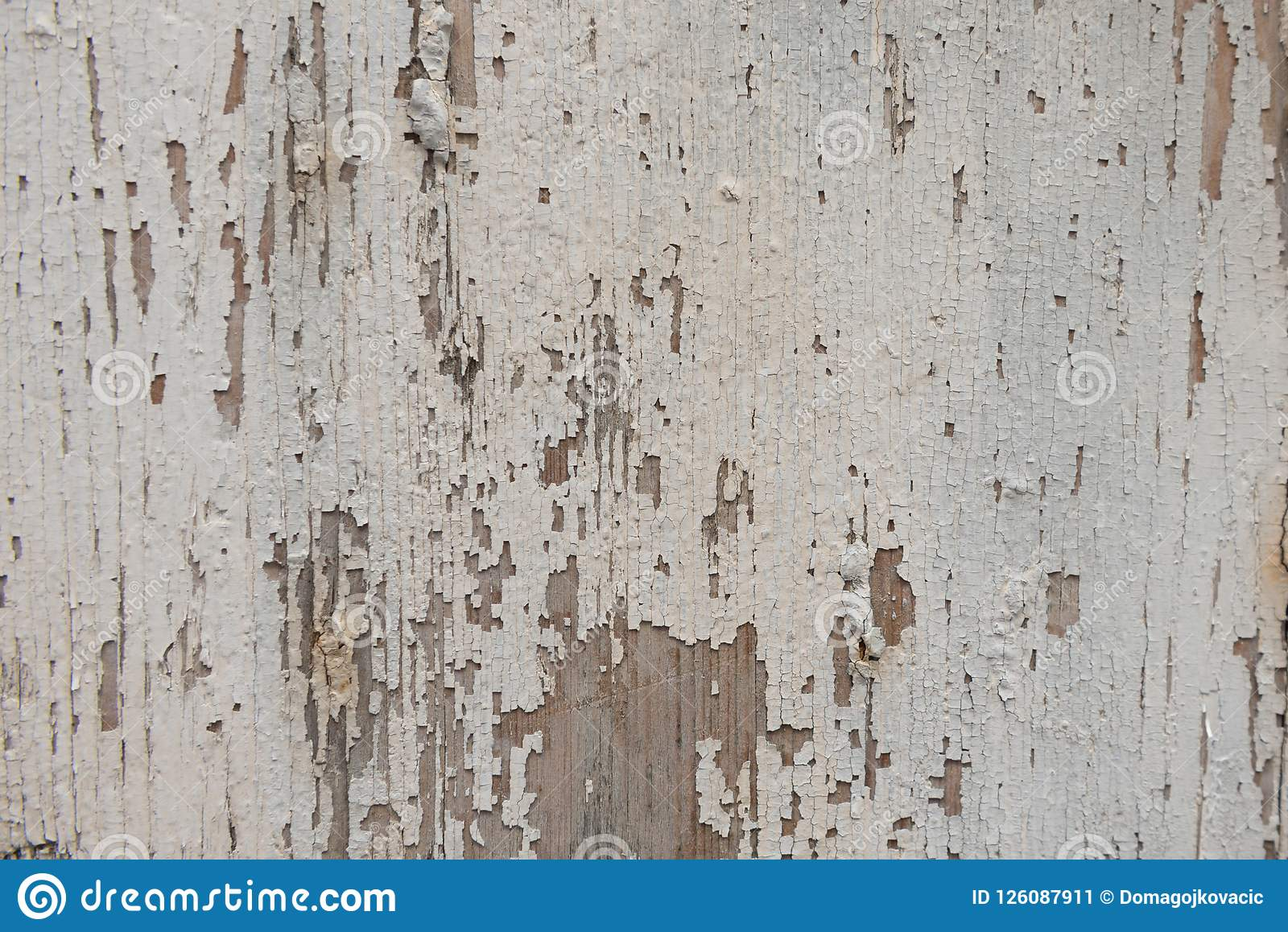 Carta Da Parati Texture old white wooden surface as background, wallpaper. stock