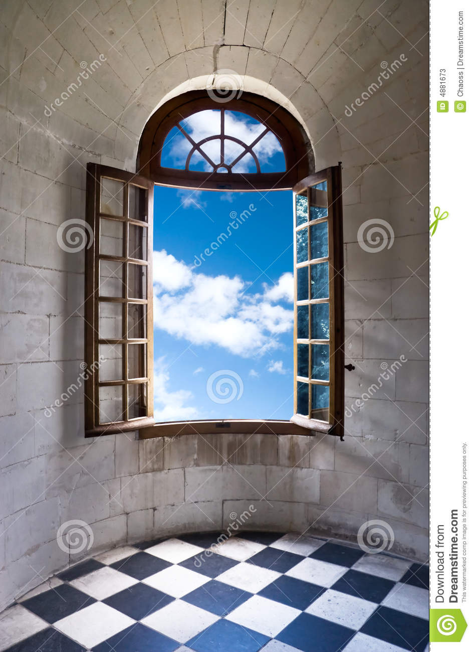 Old Wide Open Window In Castle Stock Photos - Image: 4881673