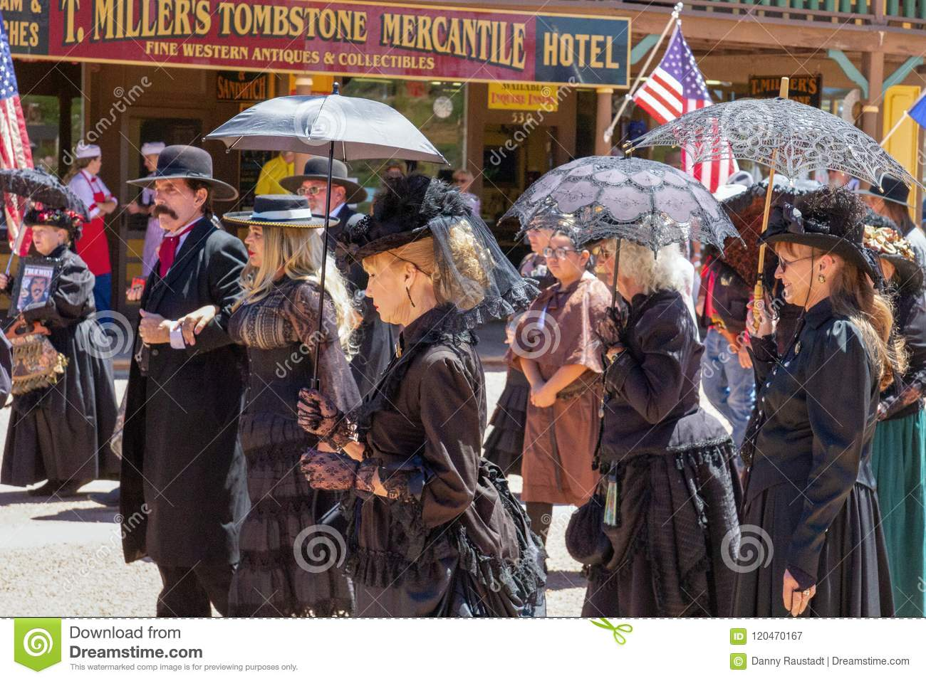 Old Wild West Characters in Tombstone