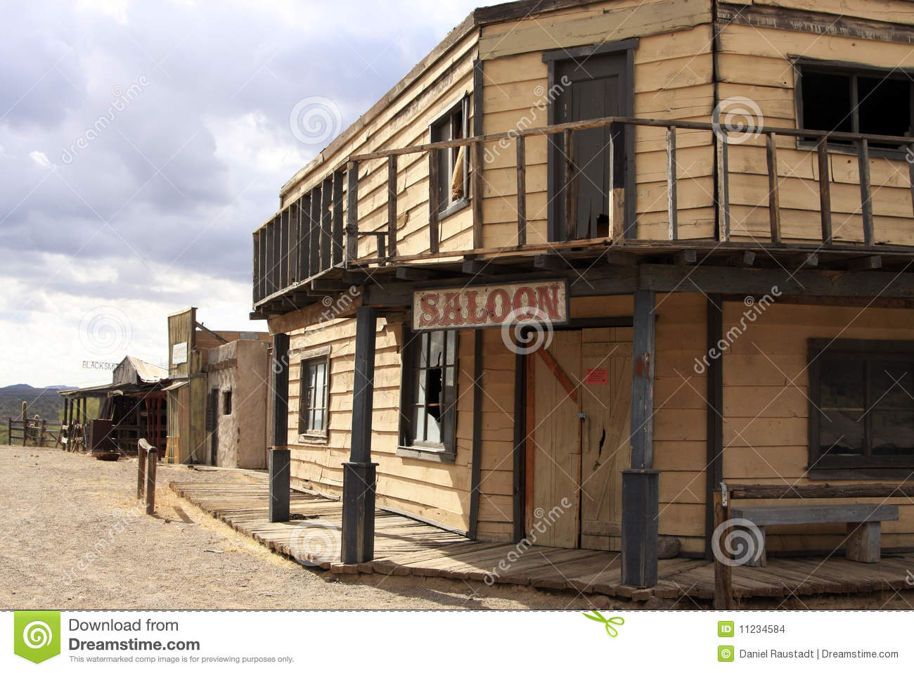Old Wild West Cowboy Town Saloon USA
