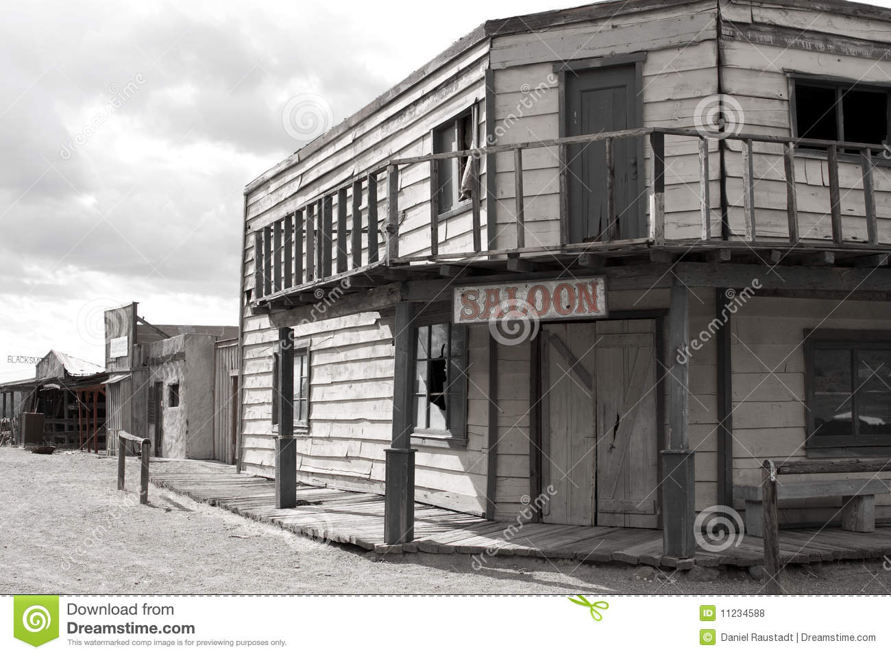 Old Wild West Cowboy Town Saloon Usa Royalty Free Stock